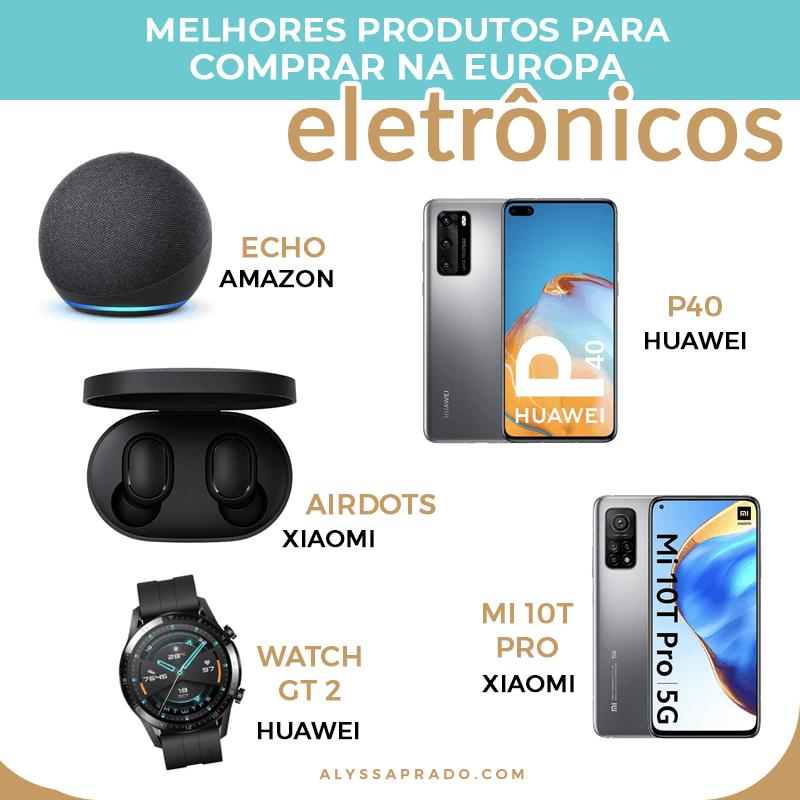 Não sabe o que comprar na Europa? Então descubra os melhores eletrônicos, maquiagens e outros produtos para comprar na sua viagem nesse post!
