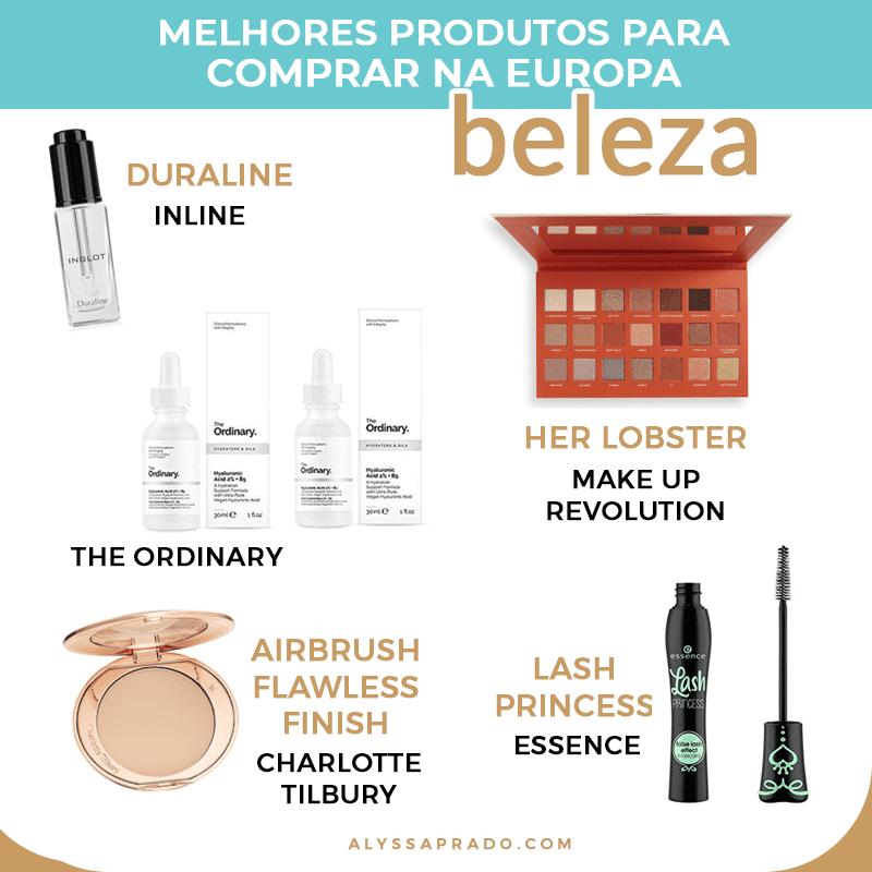 Descubra o que comprar na Europa! Melhores produtos e marcas de maquiagem, beleza, eletrônicos e muito mais!