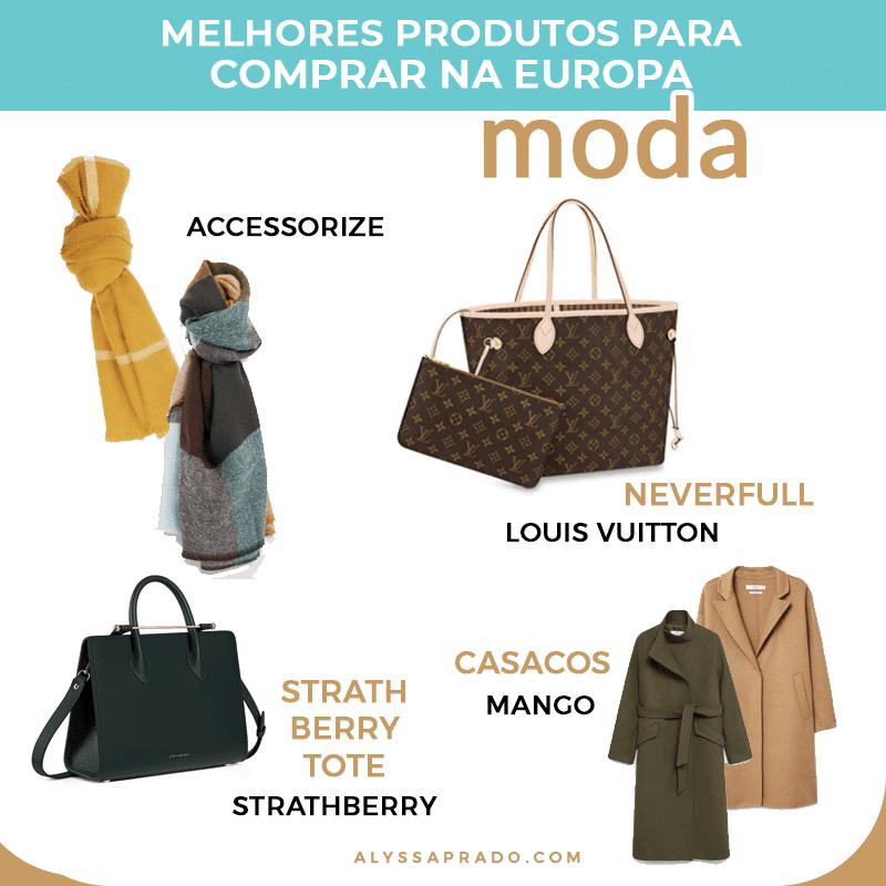 Descubra as melhores roupas, bolsas e acessórios para comprar na Europa com esse guia de compras super completo!