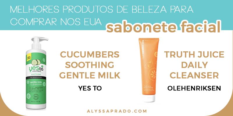 Melhores sabonetes para o rosto dos Estados Unidos! Descubra os Melhores produtos de beleza para comprar nos EUA nesse post! Sabonetes, esfoliantes, hidratantes e mais!