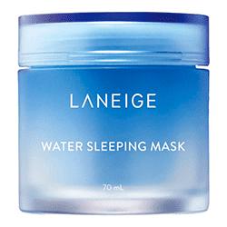 Um dos cosméticos coreanos mais populares é a Máscara de Dormir a base d'água da Laneige.