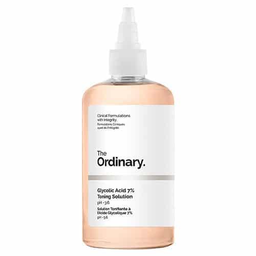 O tônico de ácido glicólico é um dos melhores produtos da The Ordinary, limpando sua pele ao mesmo tempo que promove uma leve esfoliação.