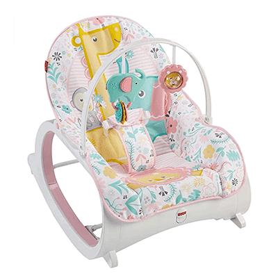 A cadeirinha de descanso da Fisher Price possui duas velocidades de vibração, perfeitas para embalar seu bebê em um soninho!