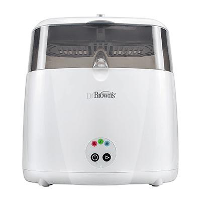 O Dr. Brown's Electric Steam Sterilizer é o esterelizador de mamadeiras perfeito, super prático de usar!